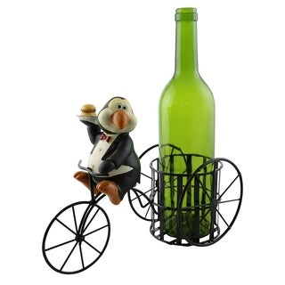 Wine bottle holder by Wine Bodies, Tricycle rider Penguin