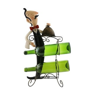 Wine bottle holder by Wine Bodies, Tall chef holding two bottles