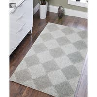 "Hand-tufted Pierre Aqua New Zealand Wool Rug - 7'6"" x 9'6"""