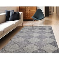 "Hand-tufted Pierre Gray New Zealand Wool Rug - 7'6"" x 9'6"""