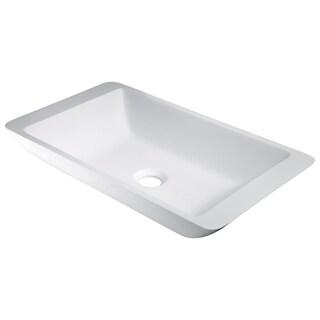 ANZZI Kydia Vessel Sink in Matte White