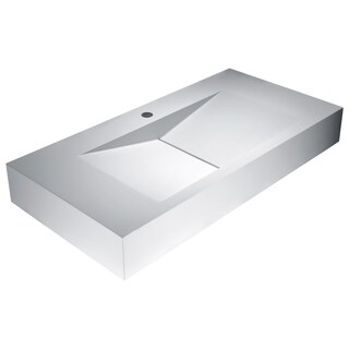 Althea Vessel Sink in Matte White