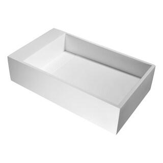 ANZZI Pascal Vessel Sink in Matte White