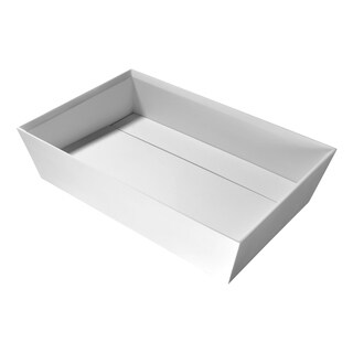 Entelea Vessel Sink in Matte White