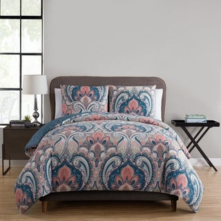 VCNY Home Casa Re'al 3-piece Reversible Duvet Cover Set