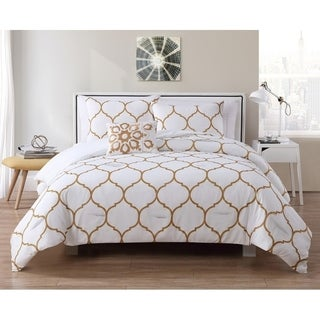 VCNY Home Ogee 4-piece Duvet Cover Set