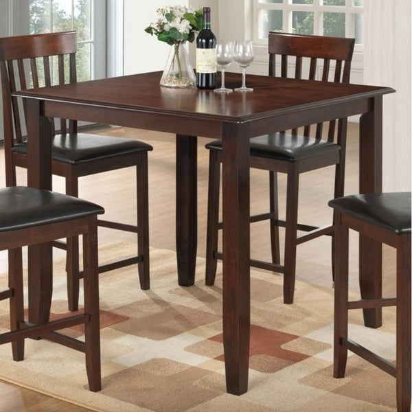 b0c235d11218d6 Shop Best Quality Furniture Brown Wood Square Counter Height Dining Table - Free  Shipping Today - Overstock - 18177415