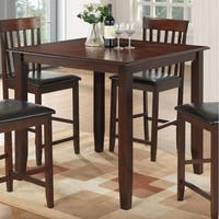Best Quality Furniture Brown Wood Square Counter Height Dining Table