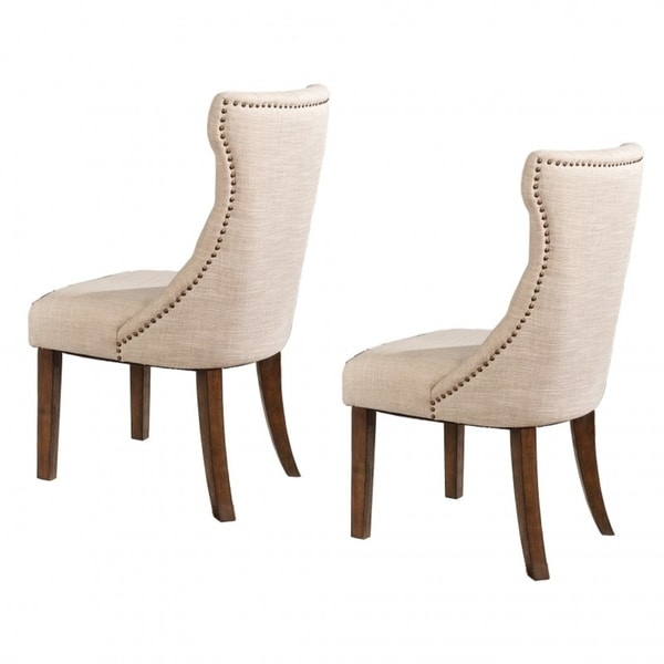 Shop Best Quality Furniture Beige Linen Upholstered Dining