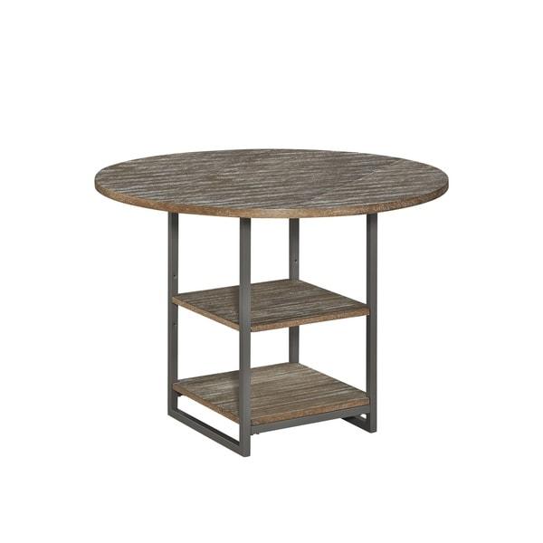 Carbon Loft Mercy Barnside Grey Round Dining Table