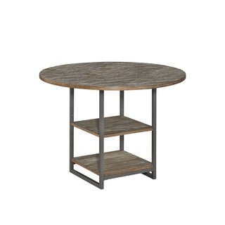 Barnside Metro Round Dining Table - Grey