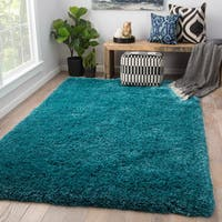 Juniper Home Orion Solid Teal Area Rug - 5' x 8'
