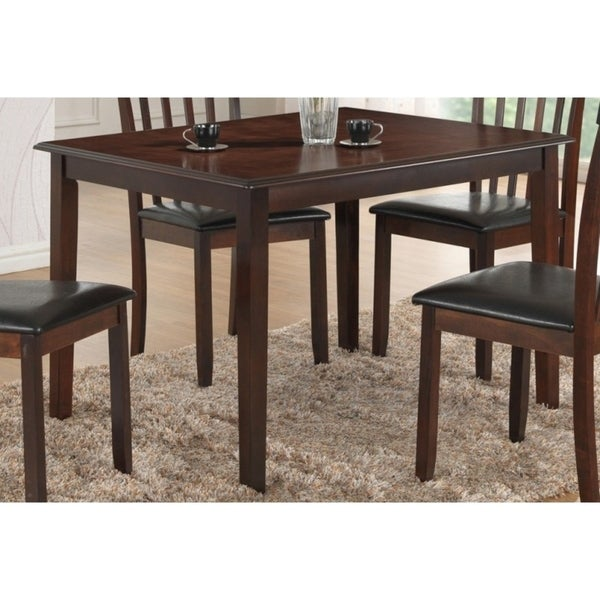 Best Home Furniture Reviews: Shop Best Quality Furniture Rectangular Cappuccino Dining