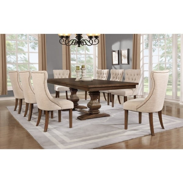 Best Quality Furniture 7-piece Walnut Extension Dining Table Set  sc 1 st  Overstock : extension dining table set - pezcame.com