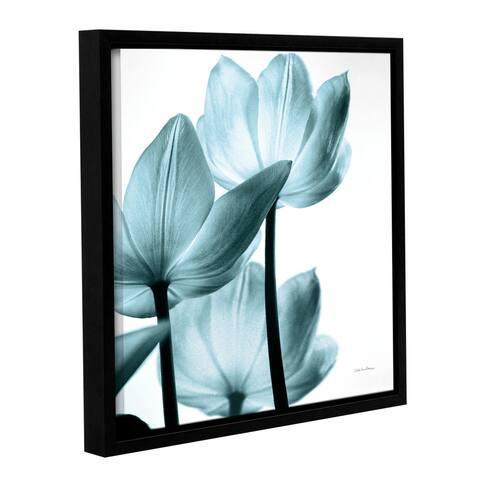Debra VanSwearingen's Translucent tulips III, Gallery Wrapped Floater-framed Canvas