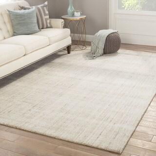 Minke Gray/White Handmade Stripe Area Rug (5' x 8')