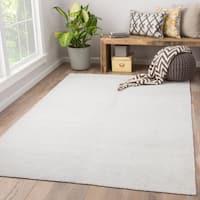 Orleanna Indoor/ Outdoor Solid White Area Rug (5' X 8')