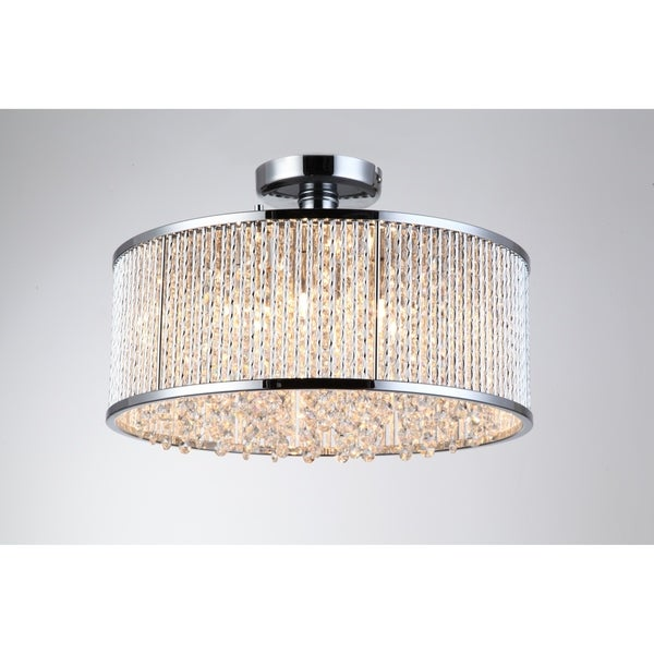 Crystalline 6 Light Semi Flush Mount Ceiling Light