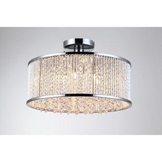 Crystalline 6 Light Semi Flush Mount Ceiling Light