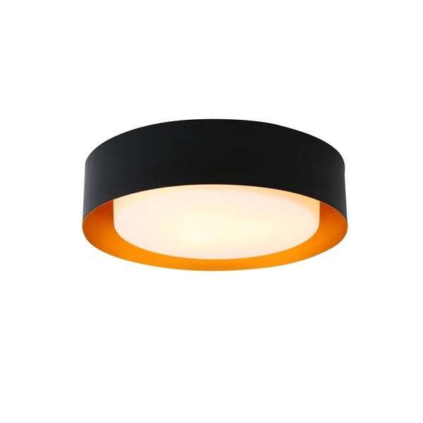 Lynch White And Gold Flush Mount Ceiling Light by Bromi Design