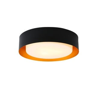 Lynch Black & Gold Flush Mount Ceiling Light