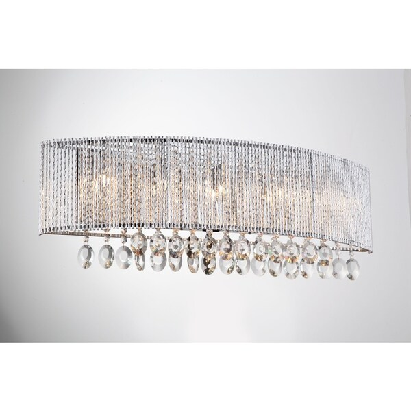 Crystalline Round 5 Light Wall Sconce