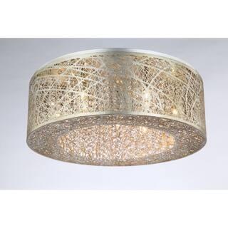 Bromi Design Royal Gold-finished Metal and Crystal 40-watt 9-light Pendant Light https://ak1.ostkcdn.com/images/products/18177878/P24324900.jpg?impolicy=medium