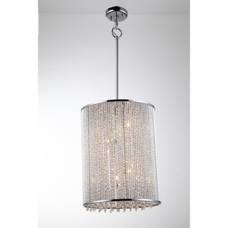 Bromi Design Crystalline Collection Chrome-finished Metal and K9 Crystal 40-watt 5-light Square Wall Sconce