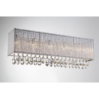Bromi Design Crystalline Crystal/Metal Square 5-light Wall Sconce