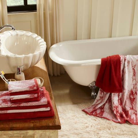Miranda Haus Super Soft, Luxurious 100% Cotton Marble Effect 10-piece Towel Set