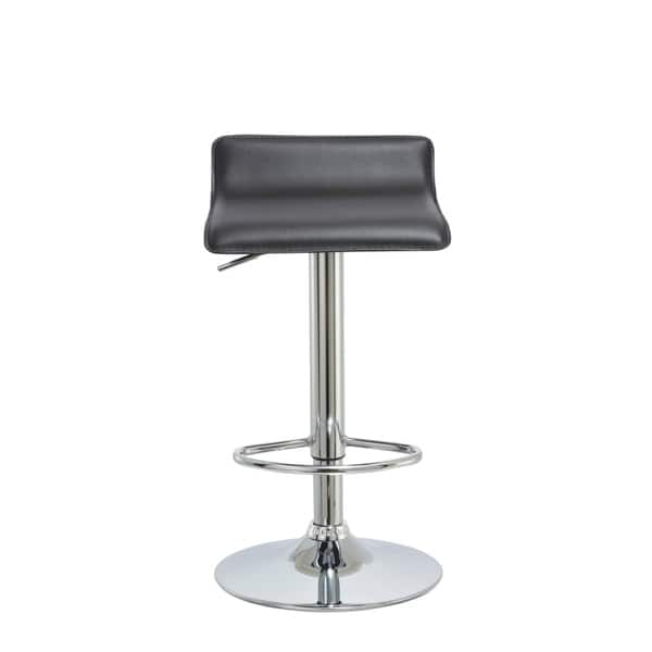 Miraculous Bromi Design Connor Black Vinyl And Steel Pedestal Barstool Caraccident5 Cool Chair Designs And Ideas Caraccident5Info