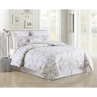 Ainna 6Pc Queen Comforter Set /Grey
