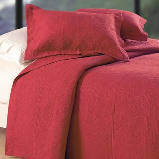 Brick Matelasse Euro Sham in Red (As Is Item)