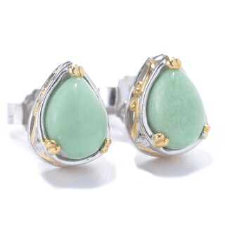 Michael Valitutti Palladium Silver Pear Shaped American Gemstone Stud Earrings (2 options available)