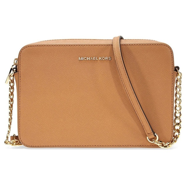 8ef3e46b4263 Shop Michael Kors Jet Set Large Leather Acorn Crossbody Handbag ...