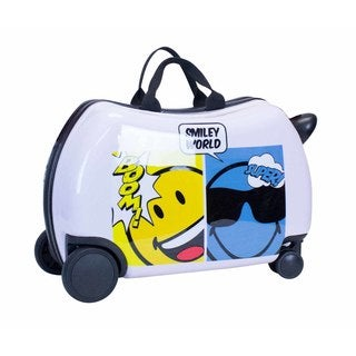 Smiley World Comic Ride-On 16-inch Hardside Rolling Suitcase