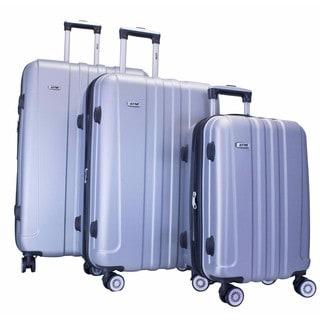 ATM Luggage Journey 2 Silver 3-piece Hardside Spinner Luggage Set