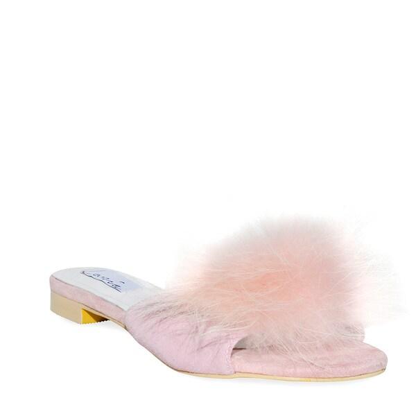 Shop Lonia Scarlett Pink - Faux Fur Slides - - Pink 18178292 118ee7