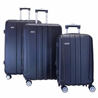 ATM Luggage Journey 2 Black 3-piece Hardside Spinner Luggage Set