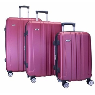 ATM Luggage Journey 2 Red 3-piece Hardside Spinner Luggage Set
