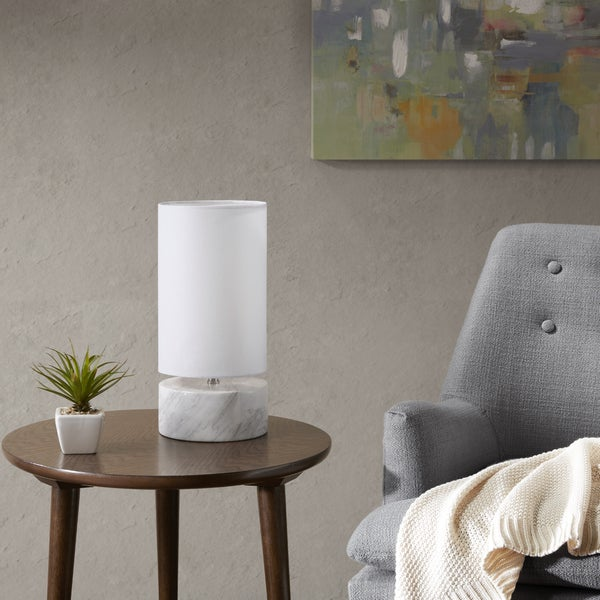 Urban Habitat Allston White Table Lamp with White Cylinder Shade