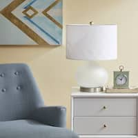 Urban Habitat Pomona White 20-inch Table Lamp with White Drum Shade