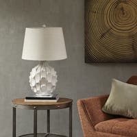 INK+IVY Romona White 27.5-inch Table Lamp with White Tapered Shade