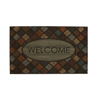 "Mohawk Home Doorscapes Mat Welcome Marquetry Doormat (1'6 x 2'6) - 1'6"" x 2'6"""