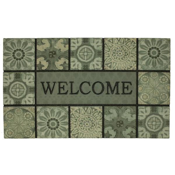 Mohawk Home Doorscapes Mat Welcome Ocean Tiles Doormat (1\u0026#x27 ...  sc 1 st  Overstock & Mohawk Home Doorscapes Mat Welcome Ocean Tiles Doormat (1\u00276 x 2\u00276 ...