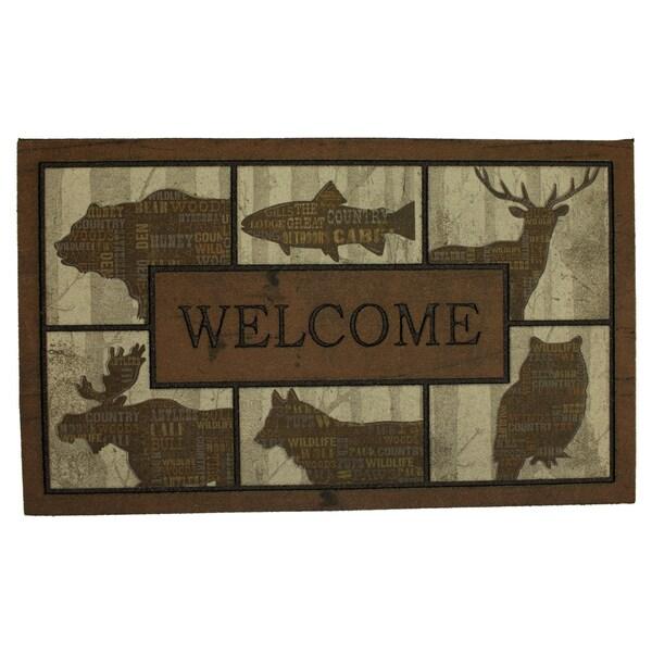 Shop Mohawk Doorscapes Mat Woodlandwords Blocks Doormat 1