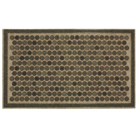 "Mohawk Ornamental Entry Mat Colorful Dots Bright Doormat (1'6 x 2'6) - 1'6"" x 2'6"""