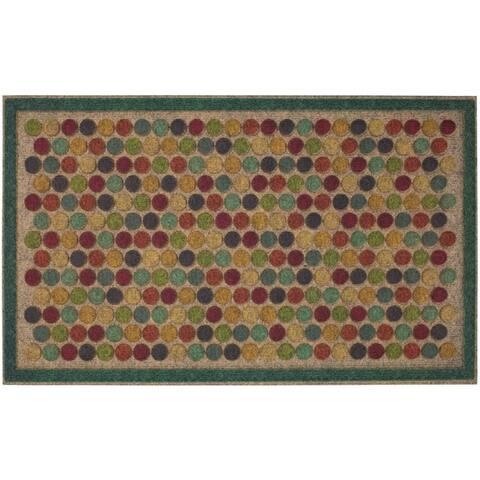 """Mohawk Ornamental Entry Mat Colorful Dots Bright Doormat (1'6 x 2'6) - 1'6"""" x 2'6"""""""