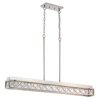 Nuvo Lighting Frienza Nickel Finish Metal/ Glass 2-light LED Island Pendant
