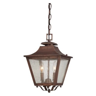 Acclaim Lighting Lafayette Collection 16 inch 2-Light Outdoor Copper Patina Hanging Lantern